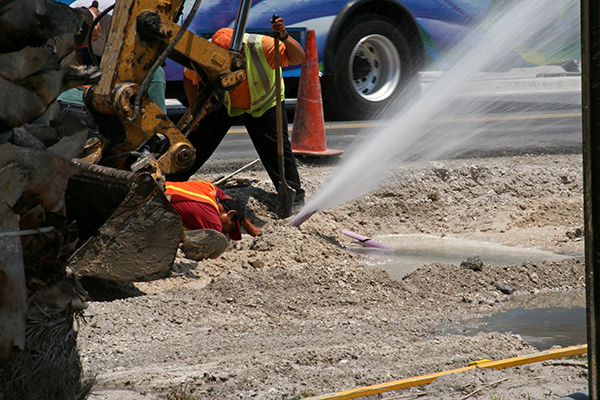 Pipes can be damaged during excavation if they are not located before digging