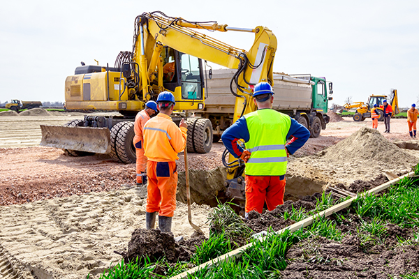 Excavation on a worksite requires locating cables and services prior to commancing digging