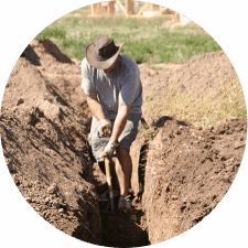 Locating underground cables and pipes in Woodside, Adelaide Hills